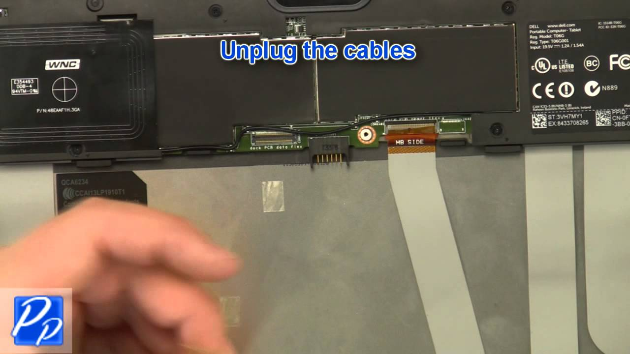 Dell Venue 11 Pro (5130) CMOS Battery Replacement Video Tutorial Teardown