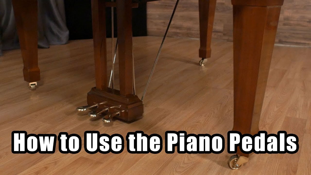 what do the 3 piano pedals do