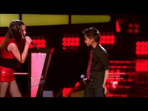 """Andrea, Axel y Kim cantan """"Oye mi amor"""""""