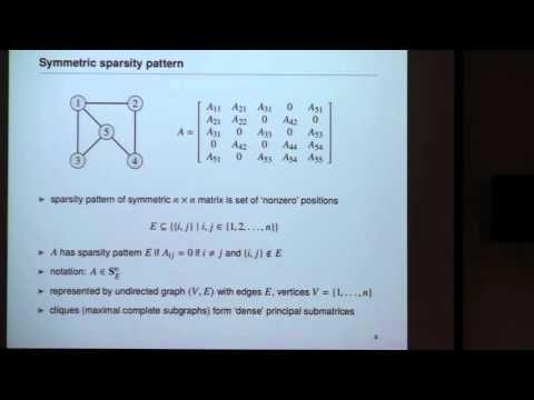 """ISR Distinguished Lecturer: L. Vandenberghe, """"Sparsity & Decomposition in Semidefinite Optimization"""""""