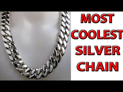 COOLEST SILVER CHAIN DESIGNS FOR MEN || SILVER ROPE CHAIN