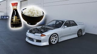 Soy Sauce and Rice as motor oil - R32 Skyline