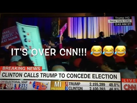 Thumbnail: The moment CNN realizes the election is OFFICIALLY over. Trump wins!!!!