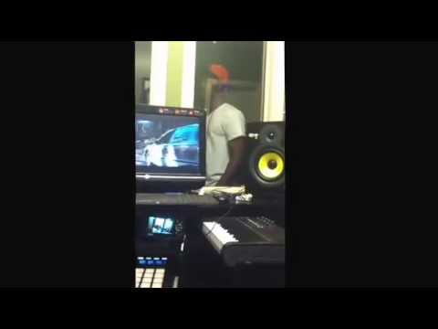GrindMode Cord putting in work at the Carolina Classic Music Group Studio