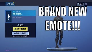 NEW EMOTE OLD SCHOOL! FORTNITE SHOP MAY 19TH - New Skins, Emotes and MORE!!!