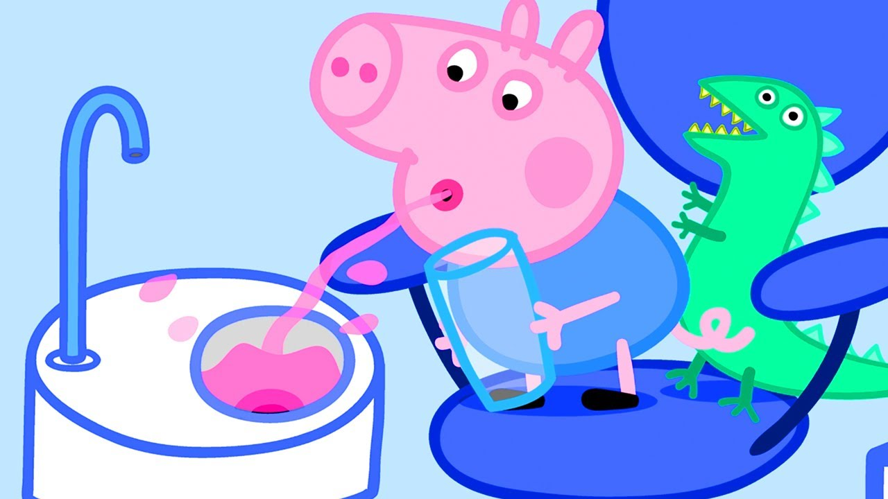 Peppa Pig and George at the Dentist | Peppa Pig Official Channel