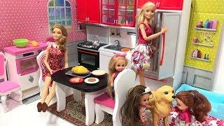 Barbie Puppies!! NEW KITCHEN Set! Puppies are born!!!