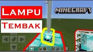 Cara Membuat Lampu Tembak -- Minecraft Pocket edition Indonesia #1