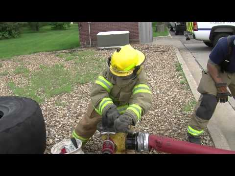Traffic reporter plays firefighter for a day