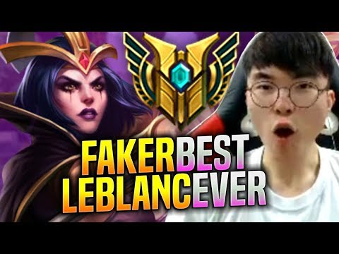 FAKER BEST LEBLANC EVER! - SKT T1 Faker Plays Leblanc vs Galio Mid! | S9 KR SoloQ Patch 9.18