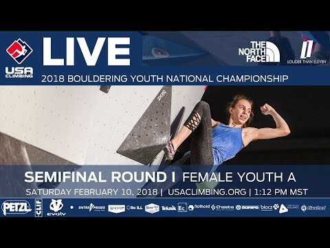Female Youth A • Semi-Final • 2018 Youth Bouldering Nationals • 2/10/18 1:28 PM