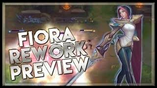 Fiora Rework Gameplay Ability Preview Champion Spotlight - League of Legends