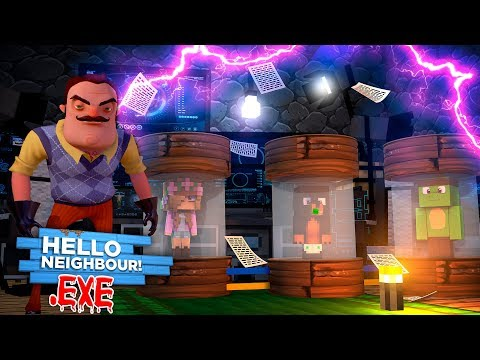 Minecraft HELLO NEIGHBOR - THE NEIGHBOR HAS ALL THE LITTLECLUB IN HIS BASEMENT & TURNING THEM .EXE
