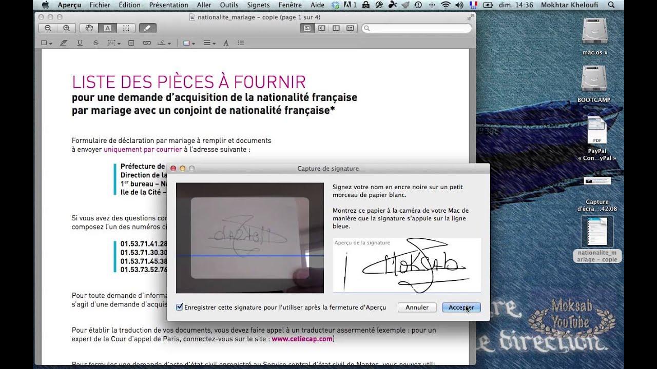 Comment Ajouter Une Signature Sur Un Pdf Mac Mov Youtube