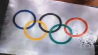 Barcelona 1992 Opening Ceremony - Athletes/Judges Oath - Giant Olympic Flag - Castells
