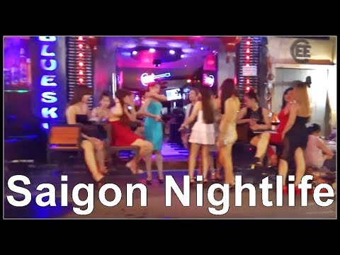 "Vietnam ""Nightlife"" Bui Vien Street in HCM City (Backpacker Area)"
