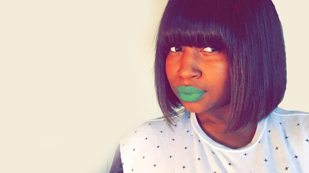 how to cut a blunt bob with bangs