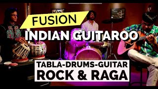 Indian Guitaroo : Fastest Acoustic Lead Guitar on Tabla & Drums