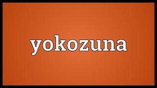 Yokozuna Meaning