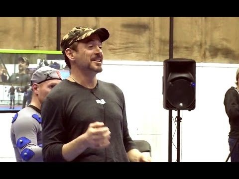 Avengers: Age of Ultron Blu-Ray Feature - Motion Capture B-Roll (HD) Robert Downey Jr. Marvel 2015