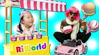 어떤 아이스크림을 만들어 드릴까요? 리원이의 아이스크림 가게 놀이, 달님이 아이스크림가게 장난감,Funny Ice Cream Shop Play