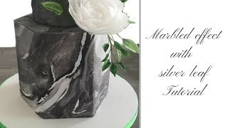 How to make MARBLED EFFECT on a cake | Ilona Deakin at Tiers Of Happiness