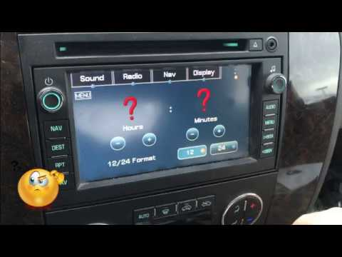 GMC SIERRA 2007-2011 cannot set clock - FIXED! - YouTube
