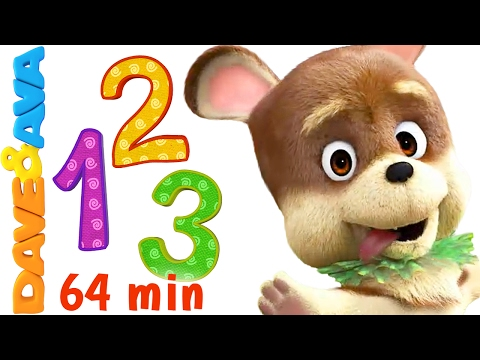 💛 Learn Numbers and Counting | Numbers Song and Counting for Kids 1 to 10 from Dave and Ava 💛