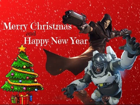Overwatch Christmas Event : Skin TorbjÖrn , Reaper ,Pharah - YouTube