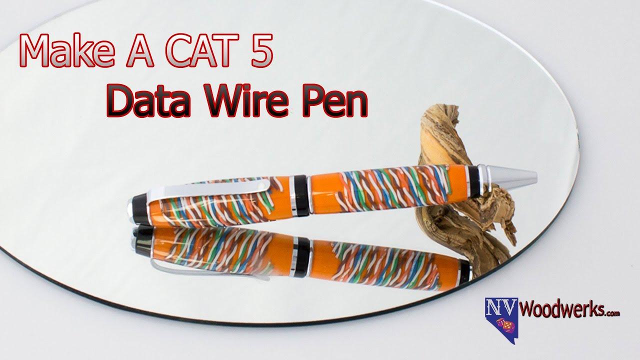 Casting CAT 5 Data Wire in Alumilite Resin for Pen Blanks | NV ...