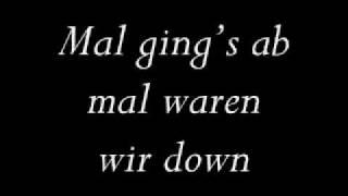 Lyrics Udo Lindenberg Wenn du durchhängst
