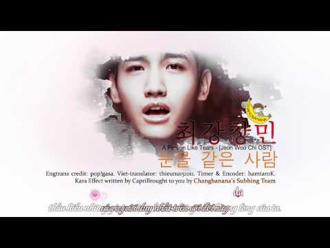 [Vietsub + Karaoke][Fanmade] A Person Like Tears - Choikang Changmin