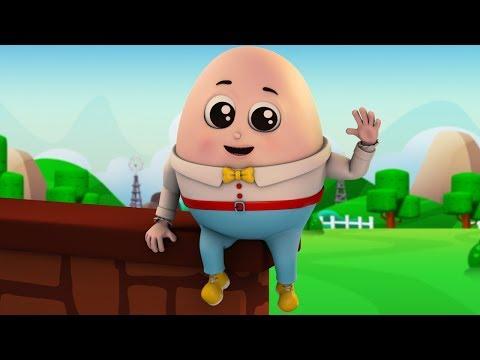 Humpty Dumpty sentado em uma parede canções para crianças rima de berçário rimas para bebês