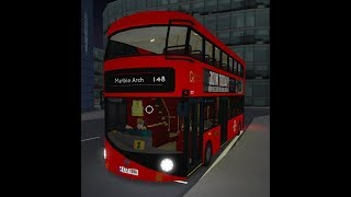 ROBLOX | London & South Bus Simulator V7.2 | Route 148: County Hall to Marble Arch