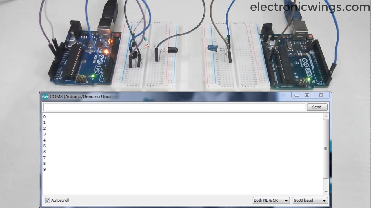 Arduino Ir Communication Using Arduino Uno | Arduino