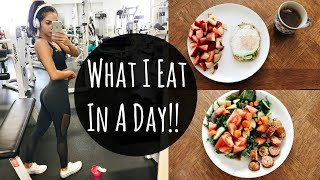 WHAT I EAT IN A DAY | To Stay Fit 2017