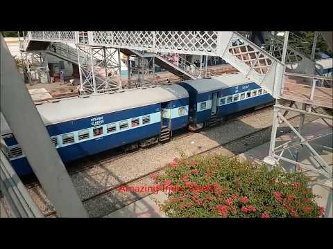 Lucknow Chandigarh Superfast Express 12231/32 @ Hardoi Railway Station