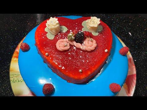 recette-facile-gâteau-glacé-chocolat-blanc-et-fraise-وصفة-كعكة-مثلجة-الشوكولاته-البيضاء-والفراولة