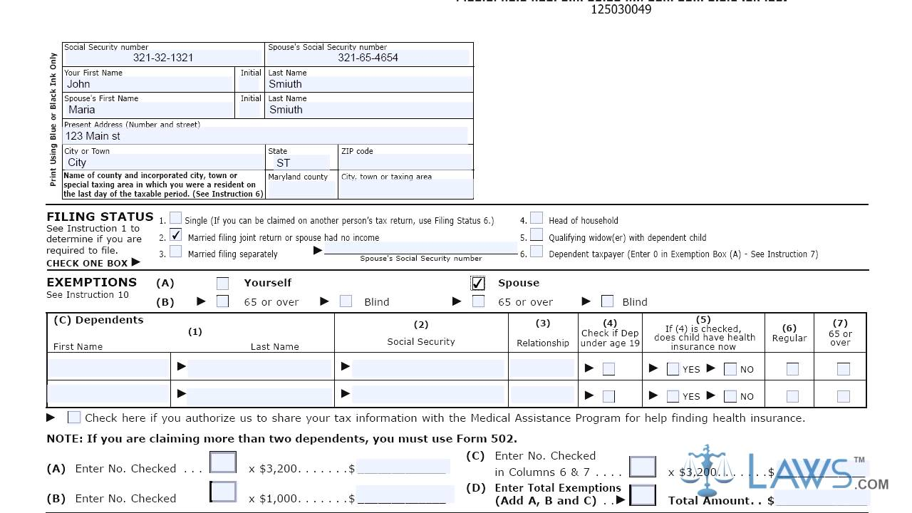 Form 503 Individual Income Tax Return Resident - YouTube
