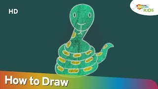 How To Draw SNAKE (HD) | Easy Step By Step Drawing For Children | Shemaroo Kids Junior