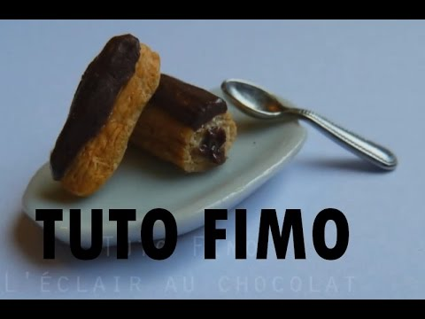 tuto fimo eclair au chocolat youtube. Black Bedroom Furniture Sets. Home Design Ideas
