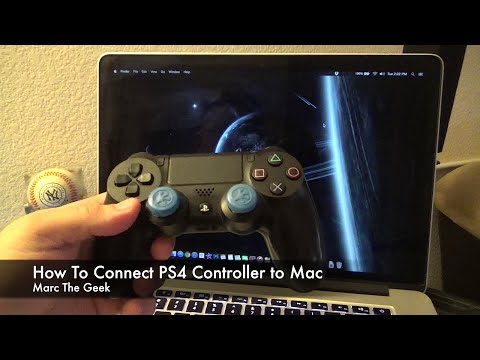 How to hook up a ps4 controller to a macbook