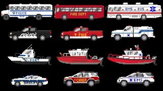 Emergency Vehicles 3 - Rescue Buses & Trucks - Fire, Police & Ambulance - The Kids' Picture Show
