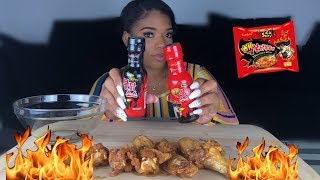 SAMYANG 2x SPICY CHICKEN WING CHALLENGE!!!!