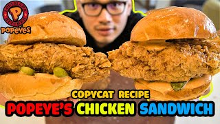 POPEYE&#39S CHICKEN SANDWICH. Done Right -Copycat Recipe