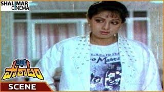 Aakhari Poratam Movie || Sridevi Tells Illegal Activities Of Criminal Amrish Puri || Nagarjuna