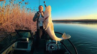 The first one to catch a fish gets a $1000. Evgeny Chernyak. Astrakhan