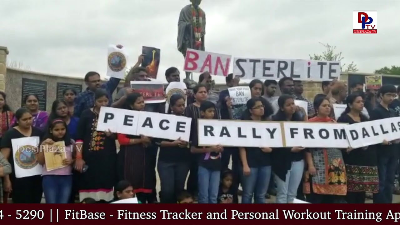 Visuals from NRI's Peace Rally in Irving,USA on Ban Sterlite - SAVE THOOTHUKUDI || DesiplazaTV