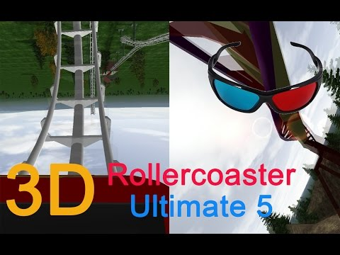3D Rollercoaster: Ultimate 5 (3D for phones/tablets/non-3D TVs)