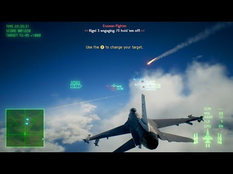 Ace Combat 7: Skies Unknown 2019 NEW FIGHTER JET GAME! Mission #1: Charge Assault (Xbox One)